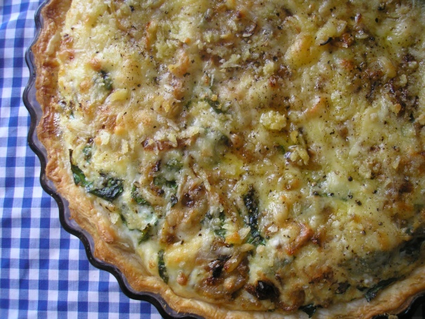 Cheese and leek quiche