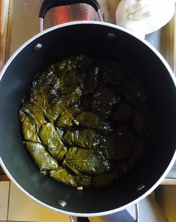 Dolma in the pot